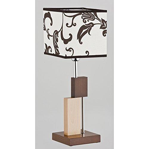 ALFA Qube Marron 1 Lampe de Chevet Lampe à Poser Luminaire Lampe de Table lumière Interieur