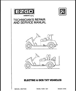 EZGO 28407G01 1997-1998 Technician's Service and Repair Manual For Electric/DCS TXT Vehicles