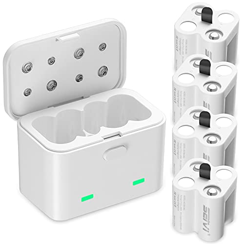 Rechargeable Batteries for Arlo, SEIVI Rechargeable Batteries (4 Pack) with Charger Compatible with Arlo Wireless Security Cameras (VMK3200/VMC3030/VMS3330/3430/3530/)