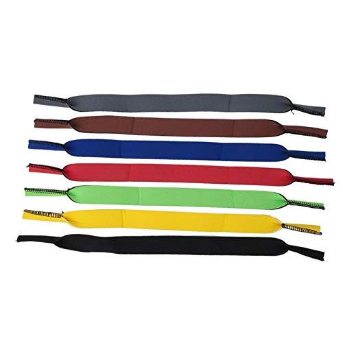 DAUERHAFT 7 Piezas de Correa para Gafas de Sol, Antideslizante, Material de Buceo Sbr, Deportivo, elástico, de Secado rápido, para Gafas, para Actividades al Aire Libre, Correr(33.5cm)