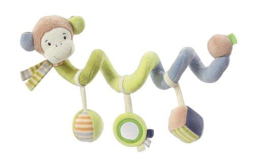 Fehn 081343 Activity-Spirale Affe / Stoff-Spirale zum Greifen und Fühlen für Bett, Kinderwagen, Laufgitter anpassbar / Für Babys und Kleinkinder ab 0+ Monaten / Maße: 30 cm lang