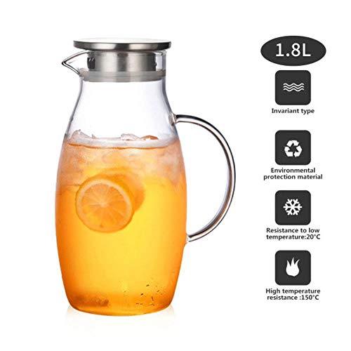1,8 l transparant glas waterkan pot Cha koffie thee ketel limonade kruik hittebestendig explosiebescherming verwarmde karaf
