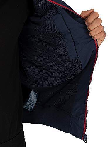 Tommy Jeans Cazadora Chaqueta Bomber Essential con Parche,Deportiva y Elegante, Azul (Black Iris), S para Hombre