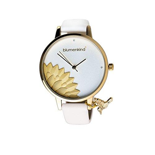 Blumenkind Damenarmbanduhr Pennsylvania Gold/Weiß 13121989GWHPWH