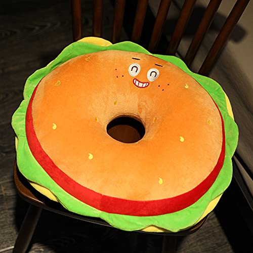 Cojín creativo para hamburguesas, papas fritas, juguete de peluche, emoticono simulación de comida para niños, cojín de rendimiento (Hamburgo, 40 x 40 x 10 cm)