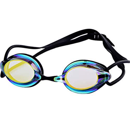 LWX Gafas de Natación, Gafas de Natación a Prueba de Fugas y UV, Unisex, Negro