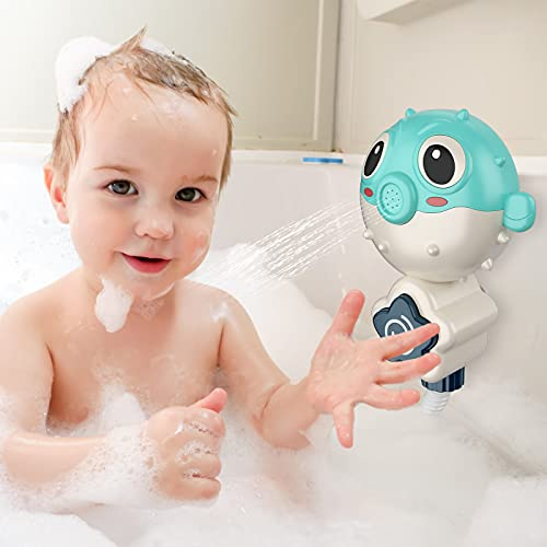 KAINSY Bath Toys Baby,Bath Babies Toys With Sucker Shower Bath Toys For 1 2 3 4 5 Year Olds ,Water Sprinkler Bath Toys for Kids Infant Girls Boys Age 1-5 Year Old Gift