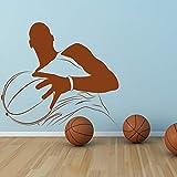 Tianpengyuanshuai Jugador de Baloncesto Vinilo Etiqueta de la Pared Retrato Etiqueta de la Pared Gimnasio Decoración para el hogar Art Decal 52X60cm
