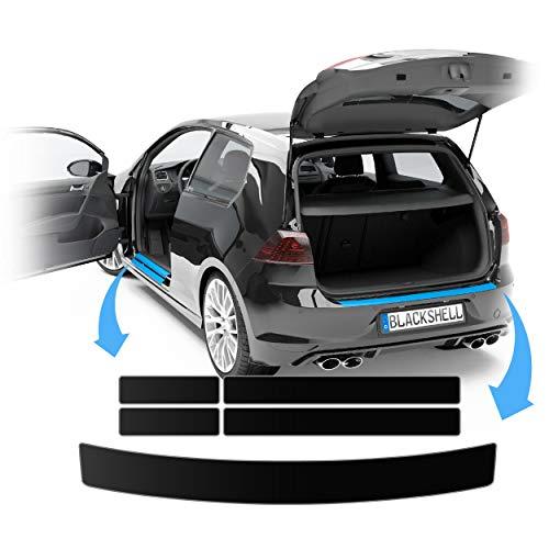 Blackshell® Lackschutz Folien Set passend für Škoda Octavia Kombi | Typ 5E | Bj. 2013-2019 Matt Schwarz - passgenaue Lackschutzfolie, Ladekantenschutz + Einstiegsleisten + Rakel