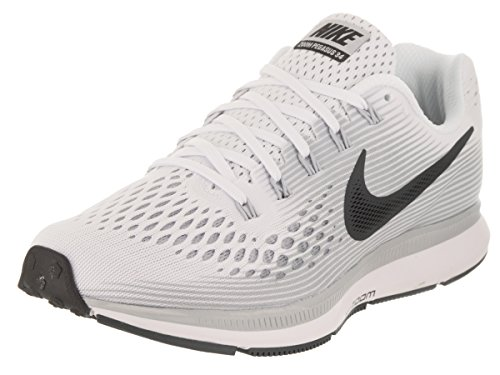 Nike Women's Air Zoom Pegasus 34 Running Shoe (9.5, White/Anthracite-Pure Platinum)