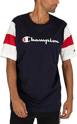 Champion Camiseta Raglan Color Azul de los Hombres