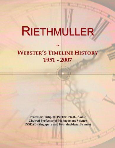 Riethmuller: Webster's Timeline History, 1951 - 2007