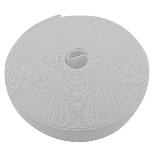 1-1/5 Inch by 43 Yard White Sewing Elastic Band Spool Heavy Stretch High Elasticity Knit Elastic Band