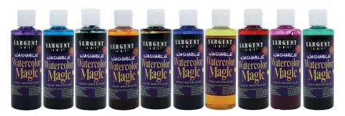 Sargent Art 22-6210 10-Count 4-Ounce Watercolor Magic