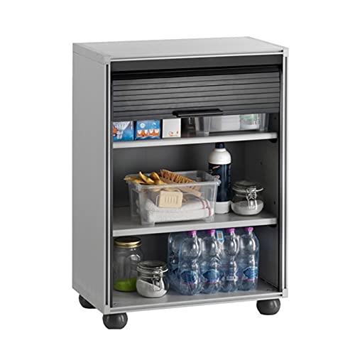 Mediawave Store - Armario con persiana de PVC con dos estantes, ideal para garajes o oficinas, estantería portaobjetos, para herramientas, organización Garage, Box, taller, estantería modular 813008