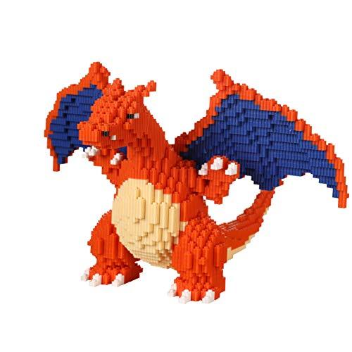 CDSVP Bloque De Construcción, Bloque De Construcción Pokémon Model Building Block Set 4000+ PCS Pokémon Combination Nano Mini Blocks DIY Toys, 3D Puzzle DIY,Naranja
