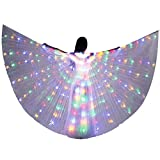 LED Isis Wing - Belly Dance Light Up Wing Party Club Wear with Flexible Sticks for Women/Girls(Multicolor)