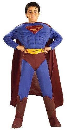Rubie's - CS889558/M - Costume licence super man avec muscles taille 5 - 7 ans