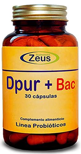 DPUR+BAC   Contribuye con los mecanismos de detoxificación hepática   Complemento Alimenticio a base de Cardo mariano, Aminoácidos, Probióticos, CoQ10 y Minerales   100% Vegano   30 Cap Veg