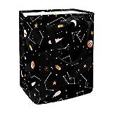 nakw88 Cesta de lavandería independiente plegable grande con asas extendidas fáciles de llevar para ropa, juguetes, diseño colorido Galaxy