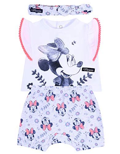 -:- Minnie Mouse -:- Disney -:- Chemisier + Short + Serre-tête 0-3 Mois