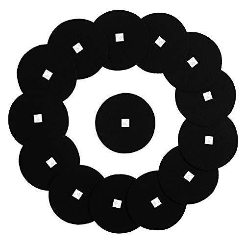 Filtros de carbón para cubo de compost de cocina – Filtro de repuesto redondo de carbón activado negro de 17 cm con doble adhesivo…