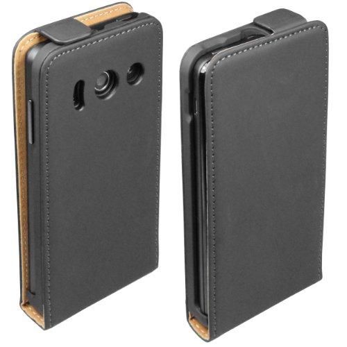 mumbi Tasche Flip Case kompatibel mit Huawei Ascend Y300 Hülle Handytasche Case Wallet, schwarz - 5