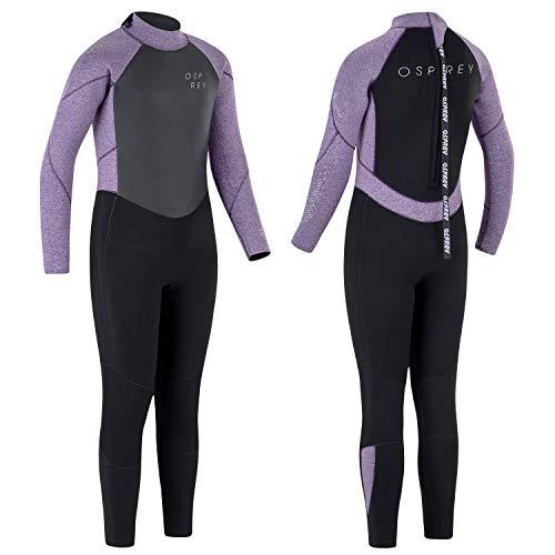 Osprey Zero Mädchen Neoprenanzug für den Winter, volle Länge, 5 mm M violett