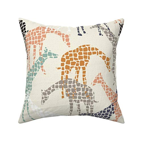 Mosaic Giraffe Pillow