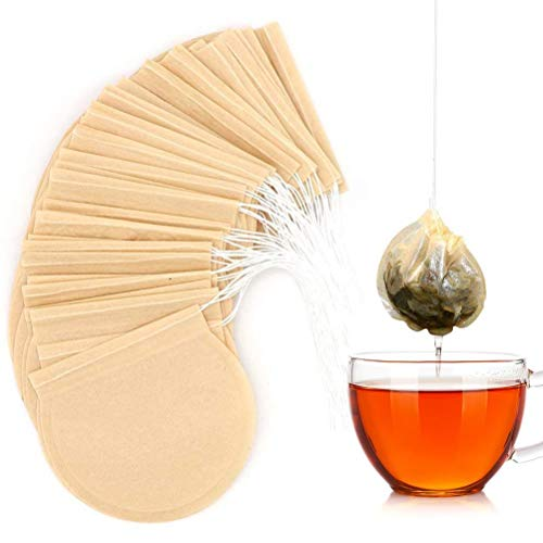 100 Pcs/Lot Round Tea Bags Empty Tea Filter Bag With String Tie Paper Teabags For Herb Loose Tea