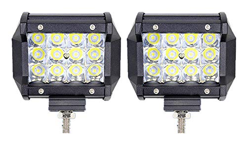 Leetop 2X Super Bright 36W 72W 120W 180W Focos LED Coches Montaje de Luces de Antiniebla IP67 Impermeable LED Foco Lampara de Coche 12V 24V(36W)