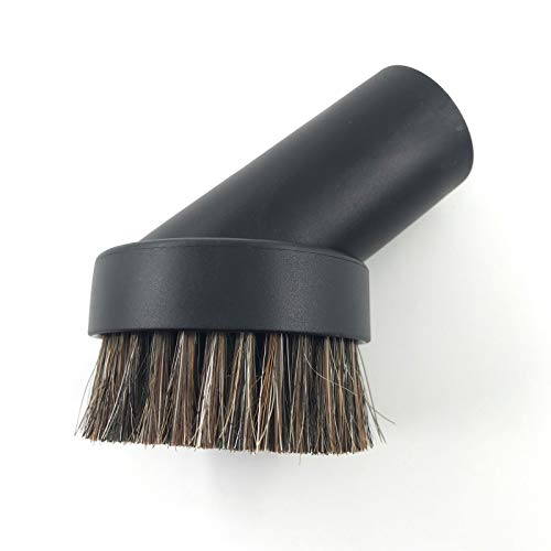 """SCStyle Round Soft Mixed Horse Hair Vacuum Cleaner Dust Brush. Fits Vacuum Brands Accepting 1.25"""" Inner Diameter Attachments,Please Measure The Inner Diameter of The Original Brush First"""