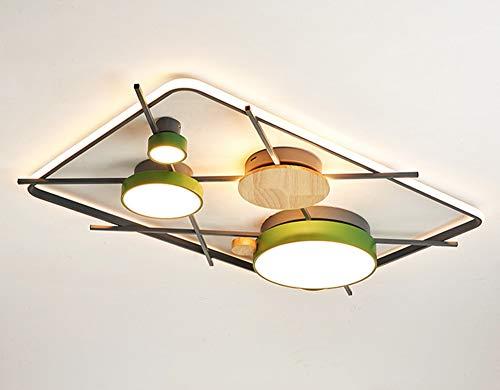 Grande Salón Plafon LED Regulable Rectángulo Luce De Techo Con Control Remoto...