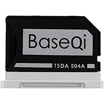 "BASEQI FBA_iSDA504ASV Aluminum microSD Adapter Works with MacBook Pro 15"" Retina (Late 2013 - Mid. 2015)"