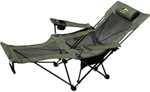 Chutd stoelpoten voor meubels, campingstoelen, inklapbaar, voor buiten, tuinligstoel met verstelbare voetenbank, compact, voor kamperen, wandelen, vissen op het strand – groen
