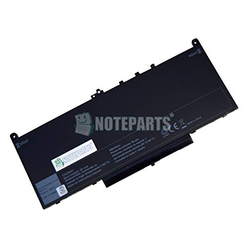 【NOTEPARTS】Dell デル Latitude E7270 E7470 用 Li-ion バッテリー J60J5 1W2Y2 242WD MC34Y対応
