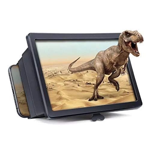 3D Handy Smartphone Big TV Vergrößerungsbildschirm Screen Lupe HD Video neuste Version 2021 unviersal kompatibel mit allen Telefonen kompakt einziehbares Magnifier Glas 8 Zoll für Filme Videos