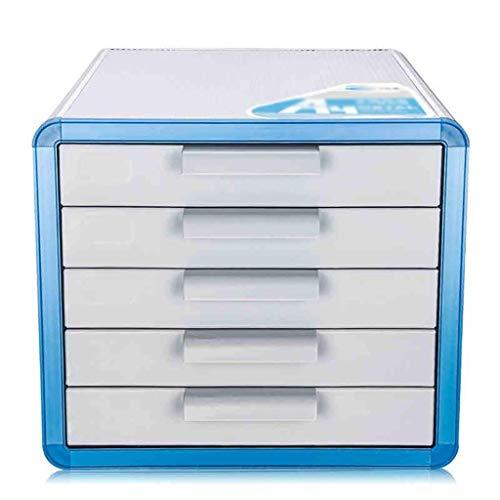 LHQ-HQ Aluminiumlegierung Speicherfächer Schreibtisch Speichereinheit Organizer abschließbare Schublade Sorter A4 Box for Büro/Farbe: Silber (Größe: 286 * 346 * 253mm) Zeitungsständer