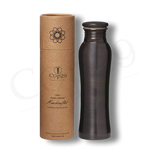 COP29 Botella de Agua de Hadas de Cobre Puro Hecha a Mano: un Recipiente de Cobre ayurvédico, Embalaje de Regalo: 900 ml / 30 oz