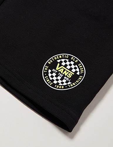 Vans Og Checker Fleece Short Ft Boys Shorts, Nero (Black Blk), Medium Bambino