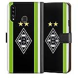 DeinDesign Klapphülle kompatibel mit Samsung Galaxy A20s Handyhülle aus Leder schwarz Flip Case Borussia Mönchengladbach Logo Gladbach
