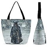 Bolsa de la compra para las señoras bolso de hombro Tote gran capacidad moda ocio conveniente plegable trabajo escuela viaje