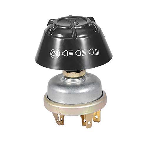 Interruptor de botón pulsador 12V Luz impermeable/Cuerno de metal para tractor Massey Ferguson