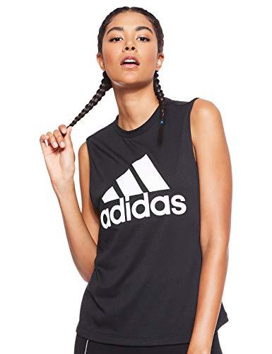 adidas W Mh Bos Tank Camiseta sin Mangas, Mujer, Black/White, S