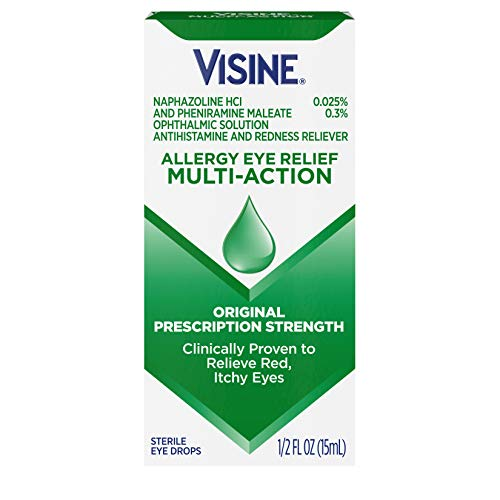 Visine Allergy Relief Multi-Action Antihistamine Eye Drops, Red, Itchy Eyes, 0.5 fl. oz
