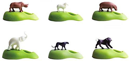 Qualy - Rotulador para copas de vino, diseño de animales