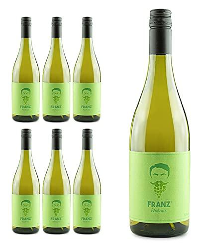 SCHORLEFRANZ® Franz Weißwein   Veganer Weißwein Trocken & Fruchtig   Riesling Made in Germany   Perfektes Wein Geschenk (11,5% Vol.) (6 x 0,75l)