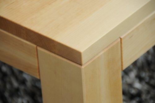 Holz-Projekt-Summer Couchtisch Birke 90x60cm H:42cm mit Ablage Zarge bündig/Echtholz Massivholz/Wunschgröße auf Anfrage