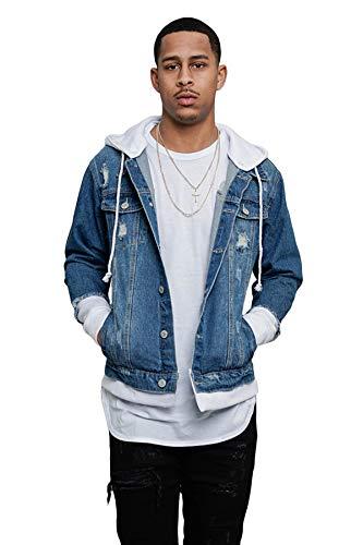 Men Denim Jacket With Hoodie
