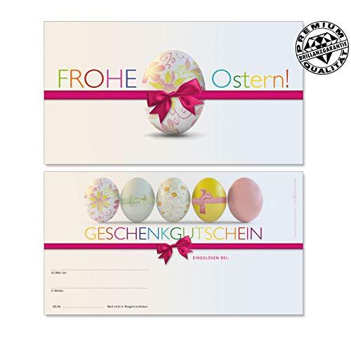 25 hochwertige Gutscheinkarten Geschenkgutscheine. Gutscheine für Ostern Osterfest Wäsche Dessous Wäschemode. Vorderseite hochglänzend. U1206